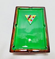 Pool Table Billiard Balls Vintage Ashtray Ceramic Japan Collectible Tobacciana Cigarette by EclecticFaves on Etsy