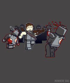 Lego Daryl Dixon shirt on http://www.nowherebad.com/