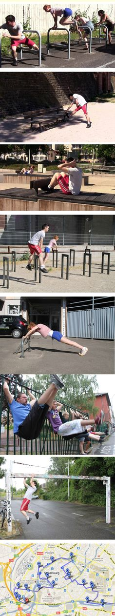 parkour workout? haha