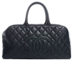 0031a794fcdd Save big on the Chanel Boston Black Caviar Leather Satchel! This satchel is  a top 10 member favorite on Tradesy.