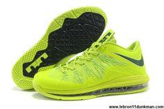super popular 9bab0 e85b8 Fashion Nike Air Max Lebron 10 Low Lightgreen Black For Sale New Nike Air,  Cheap