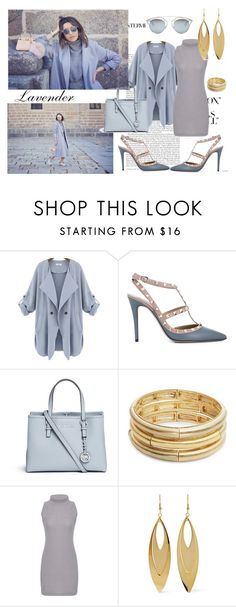 """""""Lavender and grey :*"""" by leagoo ❤ liked on Polyvore featuring Valentino, Michael Kors, Nanette Lepore, Kenneth Jay Lane and Christian Dior"""