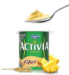 Activia® Fiber Pineapple Probiotic Yogurt