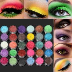 30 Colors 1 Set Pure Color Eye Shadow Powder Pigment Kit Makeup Cosmetic Tool