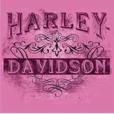 Pink Harley Davidson logo