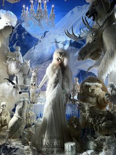 Bergdorf Goodman Window a la The Snow Queen