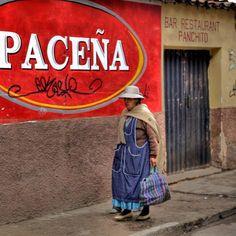 #walking #woman - #Copacabana #Bolivia #nofilter #hdr #singleraw #travel #igers #ig #instagram #red Photo by michaeldunker • Instagram