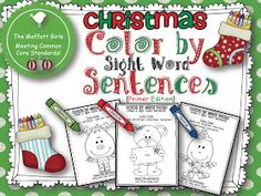 I just finishing making some  FREE  Christmas Color by Sight Word Printables.  These printables will reinforce the Pre-Primer and Primer Do...