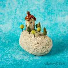 Lonely house on the rock. Unique ceramic sculpture / Cottage / Home Decor / Gift for her /Hand Made Gift House On The Rock, Tiny House, Ceramic Flower Pots, Ceramic Houses, Cottage Homes, Plant Holders, Ceramic Pottery, Lonely, Gifts For Her