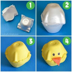 Egg carton chicks - a cute kids' craft for spring or Easter. Would also make a great rainy day project!