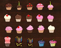20 Free Printable Cupcake Planner Stickers