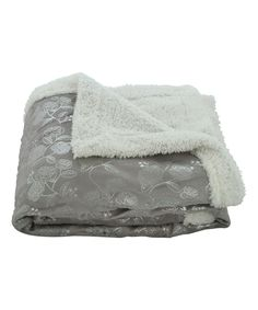 Another great find on #zulily! Gray Floral Faux Sherpa Throw by Plazatex #zulilyfinds