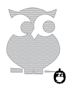 Cute Owl in Beginner Halloween Pumpkin-Carving Templates from HGTV