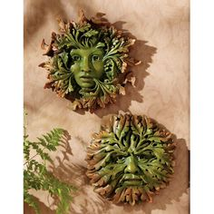Design Toscano The Somerset Greenwoman and Greenman Sculpture - PD99060