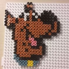 Scooby-Doo hama beads by Perler Bead Templates, Diy Perler Beads, Pearler Beads, Melty Bead Patterns, Hama Beads Patterns, Beading Patterns, Perler Bead Mario, Scooby Doo, Hama Beads Design