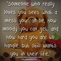 Someone Who Really Loves You Quote