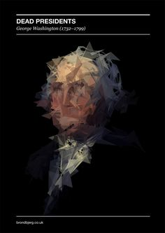 Dead Presidents - Generative Portraits by Mike Brondbjerg, via Behance