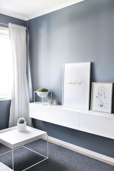 Small Bedroom Ideas That Are Big in Style Living Room Paint, Home Living Room, Living Room Designs, Living Spaces, Interior Inspiration, Room Inspiration, Pretty Things, Pastel Interior, Modern Home Interior Design