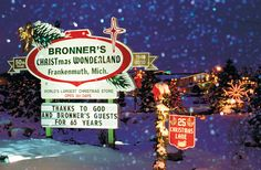 BRONNERS CHRISTMAS WONDERLAND IN FRANKENMUTH, MICHIGAN ~ CHRISTMAS ALL YEAR ROUND, BEAUTIFUL......:)