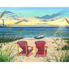 Artist: Scott Westmoreland<br>Title: Outer Banks Sunrise <br>Type: Gallery wrapped canvas