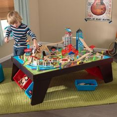 KidKraft Boysu0027 Waterfall Mountain Table U0026 Train Set | Train Tables With  Storage | Pinterest | Boys