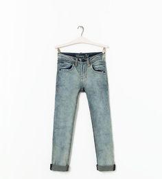 Image 1 de Pantalon en jean basic de Zara
