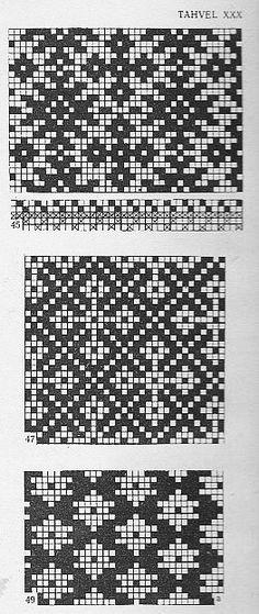 @nika Fair Isle Knitting Patterns, Knitting Charts, Knitting Stitches, Knitting Designs, Fair Isle Chart, Swedish Weaving, Mittens Pattern, Pattern Library, Tapestry Crochet