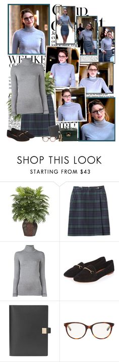Kara Danvers by productionkid on Polyvore featuring Majestic Filatures, L.L.Bean, Topshop, Christian Dior, Smythson, Nearly Natural, Yves Saint Laurent, Rubeus, Bela and supergirl