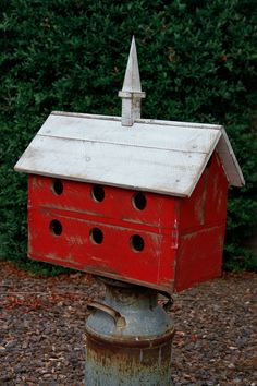 Purple Martin bird house large barn bird house by LynxCreekDesigns