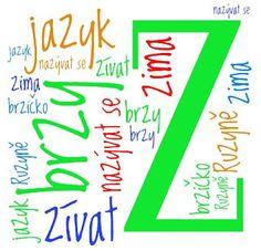 Školní hrátky: Slovní mrak Kids Education, Arabic Calligraphy, Language, School, Teaching Ideas, Literatura, Early Education, Languages, Arabic Calligraphy Art