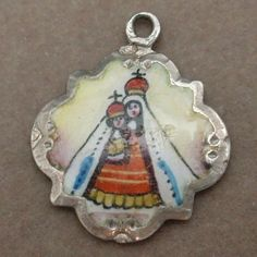 Infant of Prague Charm Vintage Silver Enamel Religious | eBay