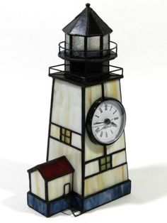 Stained-Glass-Lighthouse-Clock-Seth-Thomas-Battery