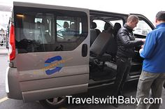 "Our ""chariot"" - my recommended Paris airport shuttle providing car seats and safety boosters - kids under 5 are free!"