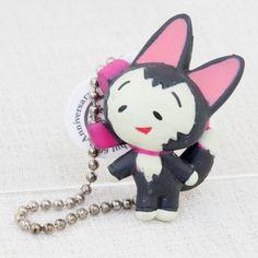 Chao Black Cat Unico Mascot Figure Ball Chain Tezuka Osamu JAPAN ANIME