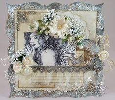 Card created by LLC DT Member Tracy Payne using Pion Design papers (Alma's /Silent Night) and an image by Zindy Nielson.