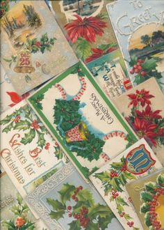 Beautiful Lot of 20 Vintage Christmas Postcards-Antique-hhh912