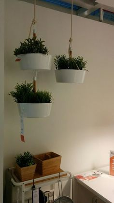 IKEA Tips for Decorating and Winning Space (Laundry & Kitchen) - New Deko Sites Hanging Fruit Baskets, Ideas 2017, Decoration Plante, Diy Décoration, Diy Hacks, Home Kitchens, Kitchen Decor, Planter Pots, Sweet Home