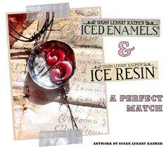 Lots and lots of instructional video and inspiration on this website by Susan Lenart Kazmer. Ice Resin and Iced Enamels