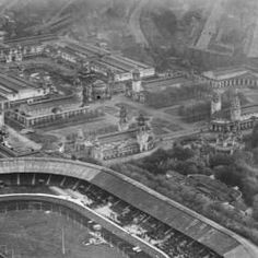 The White City Stadium and Exhibition Centre, Shepherd's Bush, 1929 Image reference Date October 1929 Shepherd's Bush London, Old London, West London, White City Stadium, Shepherds Bush, London History, Soccer Fans, Football Stadiums, Fulham