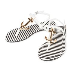 Tory Anchor T Strap Sandals | Icing