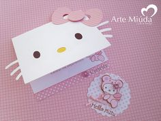 Convite Hello Kitty and like OMG! get some yourself some pawtastic adorable cat apparel! Hello Kitty Crafts, Hello Kitty Themes, Anniversaire Hello Kitty, Hello Kitty Birthday Invitations, Hello Kitty Baby Shower, Hallo Kitty, Cool Birthday Cards, Cat Party, Stationery