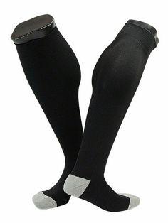 Lian Style Men's 1 Pair Knee-high Sports Socks Size M XL0022-01(Black) Sports Socks, Athletic Socks, Pairs, Mens Fashion, Black, Style, Moda Masculina, Swag, Man Fashion