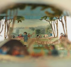 a hand painted Diorama. England c. 1810.