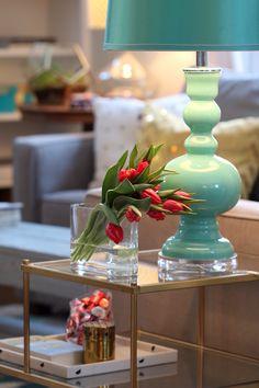 Mint lamp in Michael Wurm Junior's stylish home