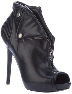 Alexander Mcqueen Vintage zipped ankle booties on shopstyle.com