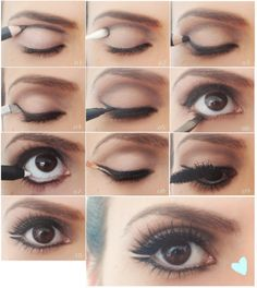 Day makeup brown eyes eyeshadow for brown eyes how to make brown eyes pop makeup tutorial Kiss Makeup, Hair Makeup, Beauty Make Up, Hair Beauty, Natural Everyday Makeup, Let Your Hair Down, Makeup Techniques, Makeup For Brown Eyes, Eye Make Up