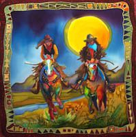 Cowgirls!!!  Nancy Cawdrey, artist, Big Fork, Montana