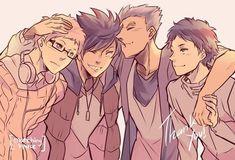 Haikyuu Manga, Bokuto X Akaashi, Tsukishima Kei, Iwaoi, Kuroken, Bokuaka, Haikyuu Fanart, Kagehina, Kenma