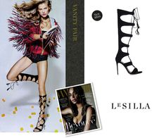 SEEN IT ON .... Vanity Fair Italia  Be overwhelmed by the powerful silhouette of Le Silla gladiator sandal: https://www.lesilla.com/shop/prodotto/93740/  #inthepress