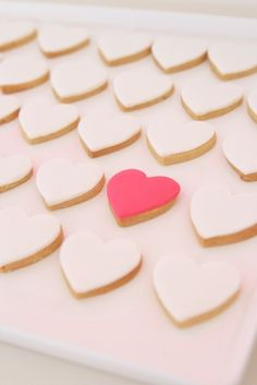 Hot and blush pink cookies ~ hello naomi cakes